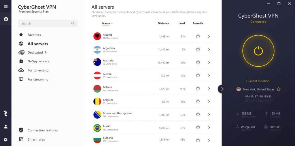 CyberGhost - kostenlose VPNs für Roku