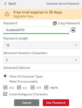 Passwort vorschlagen