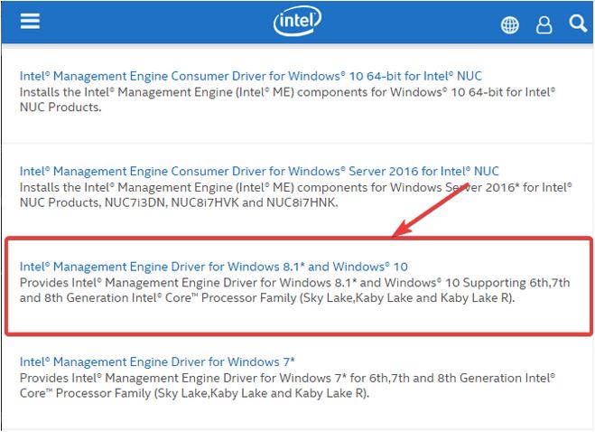 Intel Management Engine-Schnittstelle