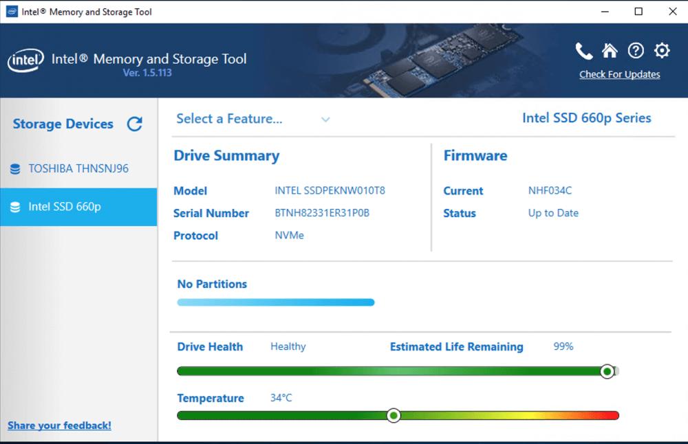 Intel-Speicher und -Speicher (MAS)