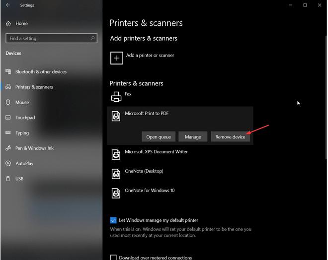Microsoft Print zu PDF
