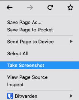 Bildschirm auf Firefox aufnehmen
