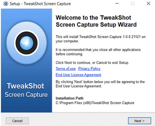 Tweak Shot-Bildschirmaufnahme