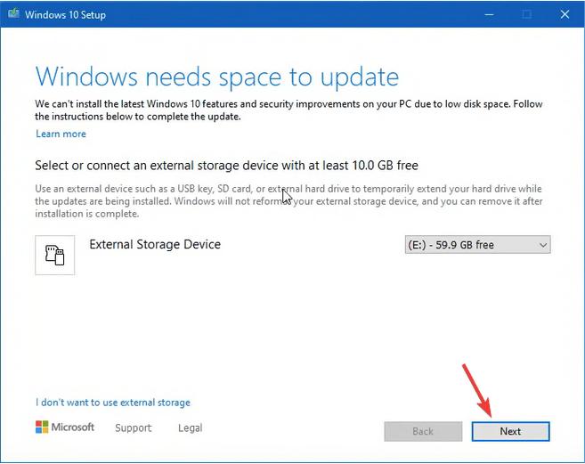 Verwenden des Windows Update-Assistenten
