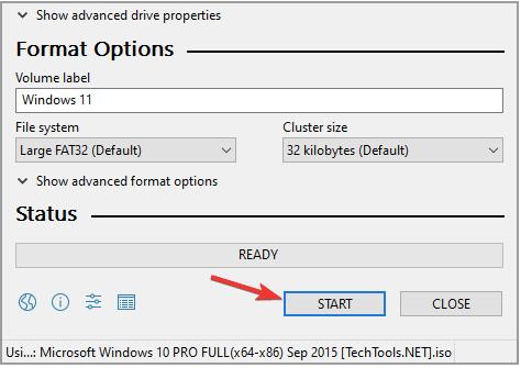 Erstellen Sie ein bootfähiges Windows 11 USB-Laufwerk