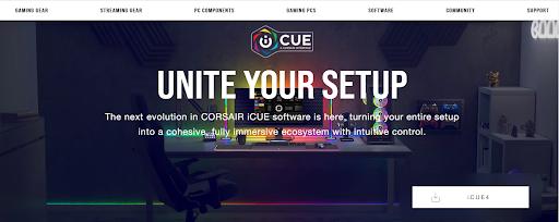 iCUE-Downloadseite