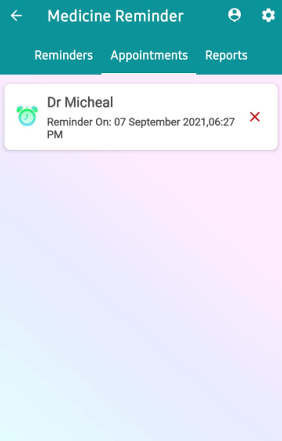 Termin-Startbildschirm