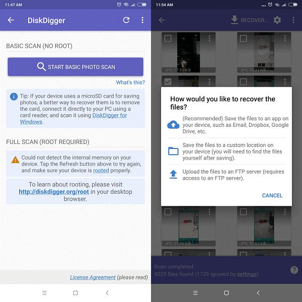 Beste Fotowiederherstellungs-Apps für Android