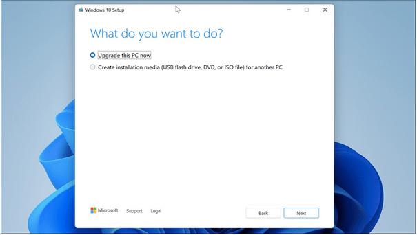 Downgrade von Windows 11