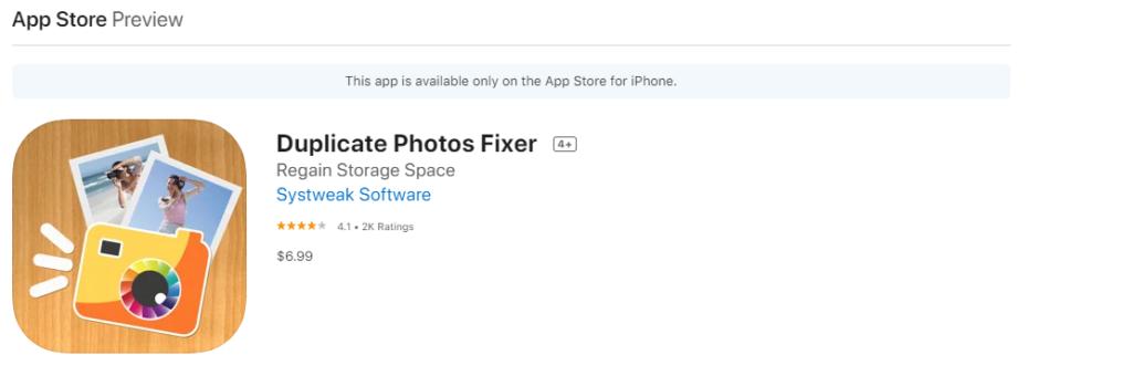 Fixer für doppelte Fotos für iOS