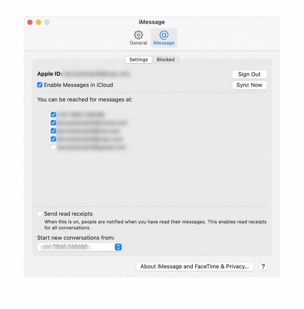 Textnachrichten auf dem Mac löschen