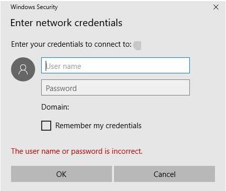 Geben Sie die Netzwerkanmeldeinformationen ein
