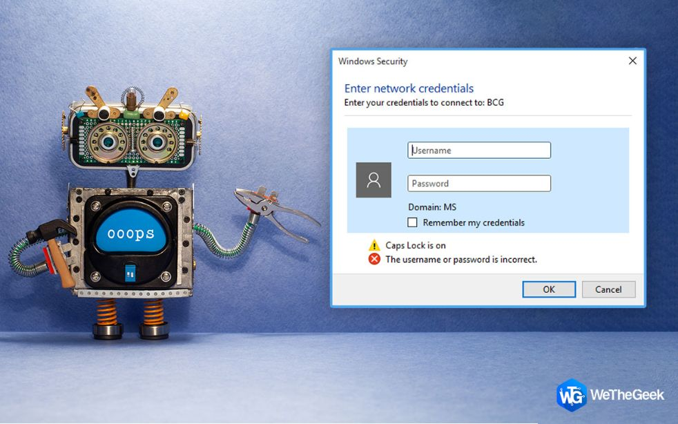How To Fix Enter Network Credentials Error on Windows 11/10