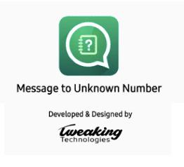 """Anwendung """"Nachricht an unbekannte Nummer"""""""