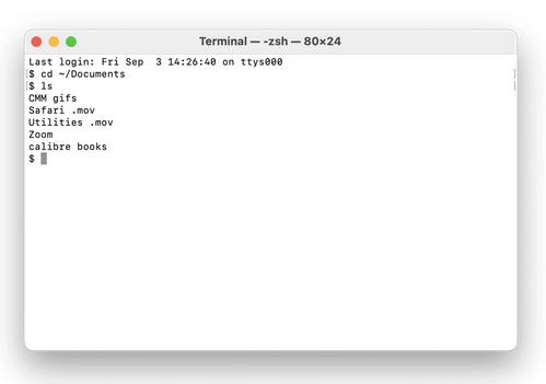Öffnen Sie Ordner mit dem Mac-Terminal