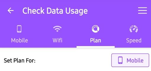 Datentarif festlegen