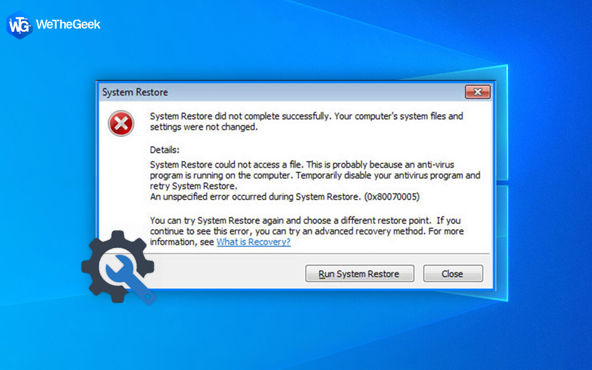 How To Fix System Restore Did Not Complete Successfully