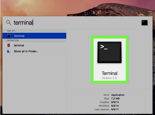 Verwenden Sie die Terminal-Befehlszeile