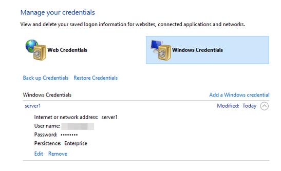 Windows-Anmeldeinformationen