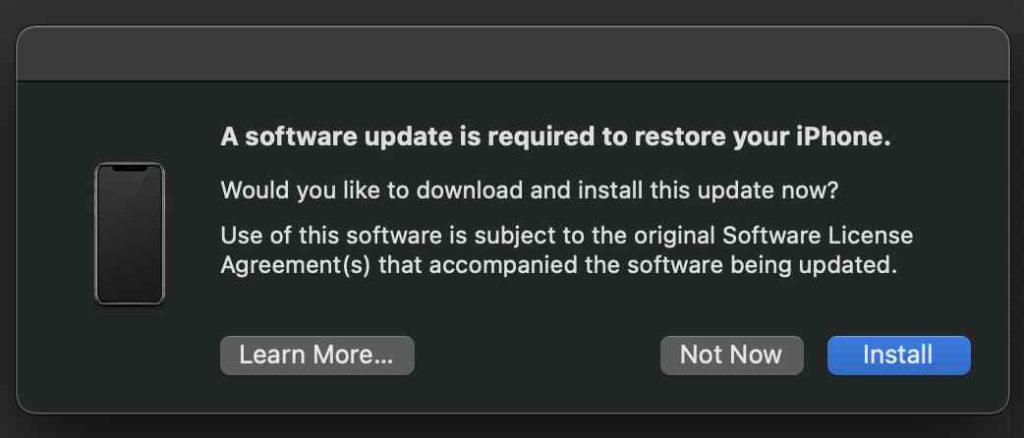 Herunterstufen von iOS 14.6