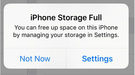iPhone-Speicher voll