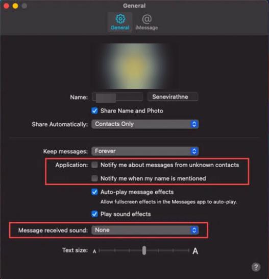 So schalten Sie die Bildnachricht auf dem Mac stumm