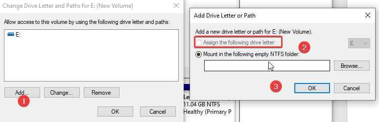 Ändern Sie den Buchstaben der externen Festplatte