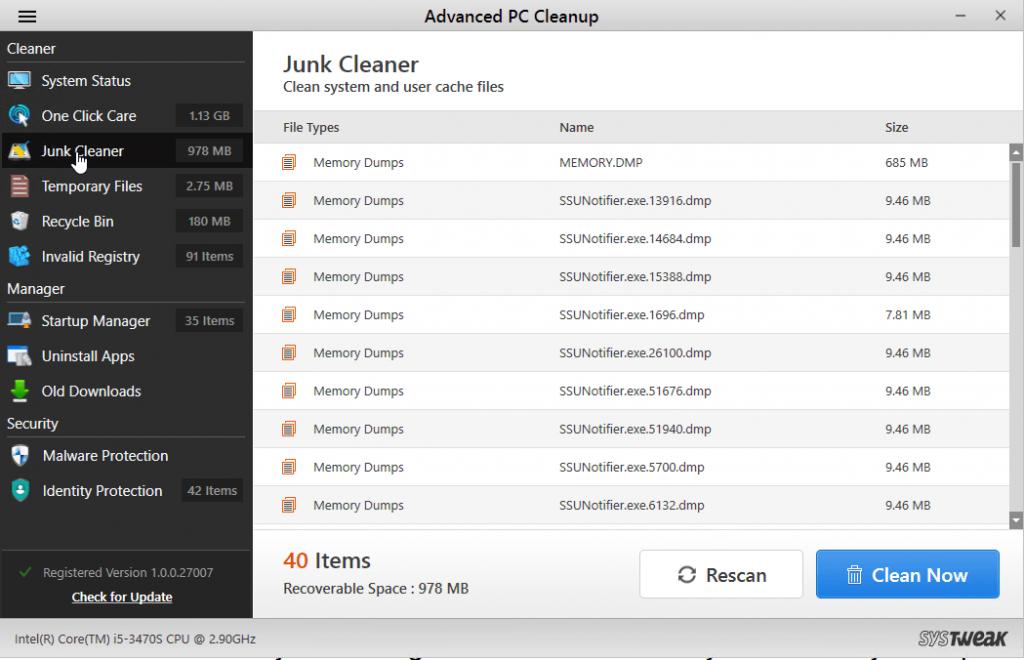 Удалить ненужные файлы
