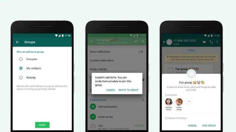 WhatsApp-Gruppenfunktion